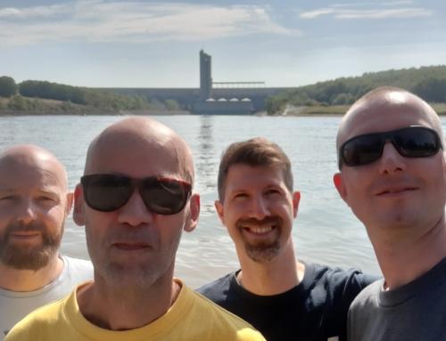 Two new freediver graduates in Lac d'Eau d'Heure